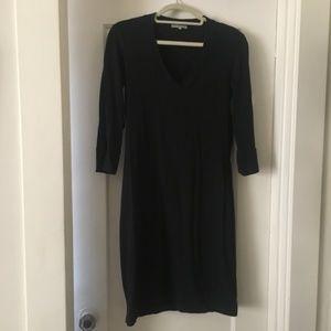 Black Standard James Perse V-Neck Dress